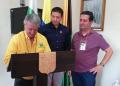 El Rector del Politécnico JIC Libardo Álvarez, el Alcalde de Abejorral Julián Muñoz y el Presidente de REDORIENTE Héctor Gómez